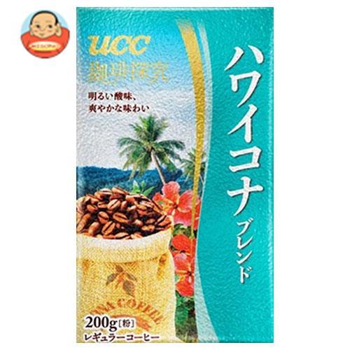 UCC 珈琲探究 ハワイコナブレンド(粉) 200g袋×24(6×4)袋入