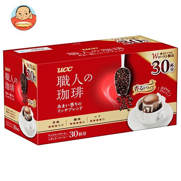 UCC 職人の珈琲 ドリップコーヒー あまい香りのモカブレンド (7g×30P)×6箱入