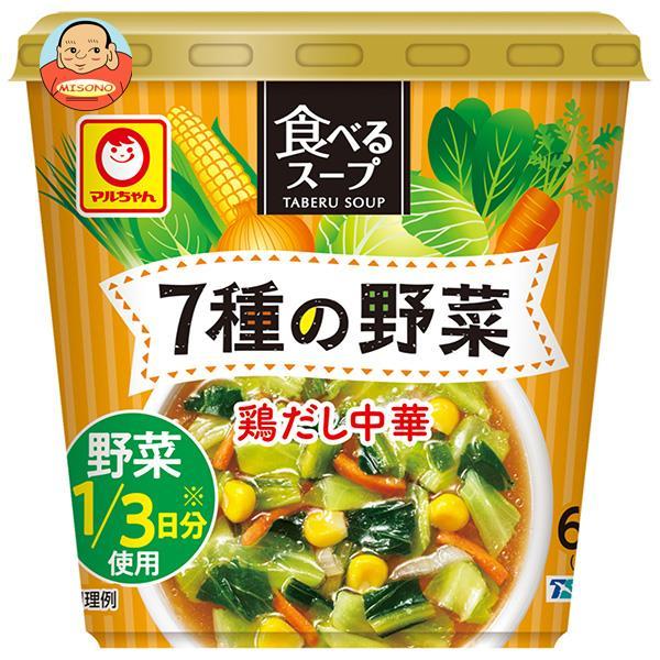 東洋水産 マルちゃん 食べるスープ 7種の野菜 鶏だし中華 25g×6袋入