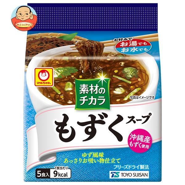 東洋水産 マルちゃん 素材のチカラ もずくスープ (3.6g×5食)×6袋入