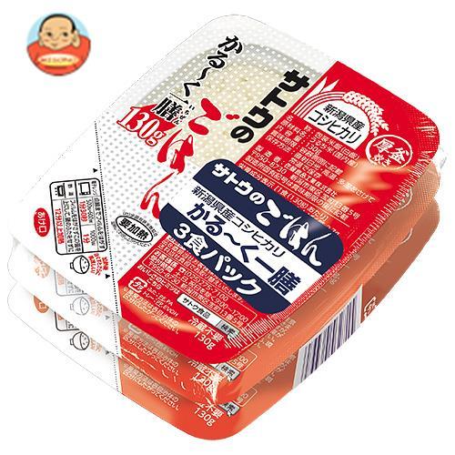 サトウ食品 サトウのごはん 新潟県産コシヒカリ かる~く一膳 3食パック (130g×3食)×12個入