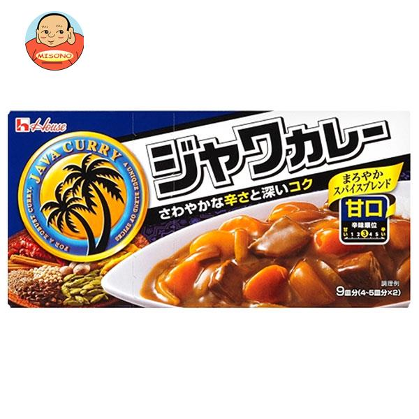 ハウス食品 ジャワカレー 甘口 185g×10個入