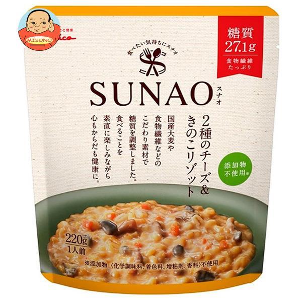 江崎グリコ SUNAO(スナオ) 2種のチーズ&きのこリゾット 220g×5袋入