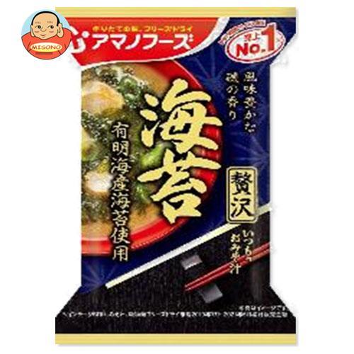 アマノフーズ フリーズドライ いつものおみそ汁贅沢 海苔 10食×6箱入