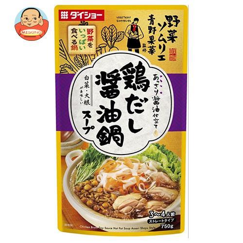 ダイショー 野菜ソムリエ青野果菜監修 野菜をいっぱい食べる鍋 鶏だし醤油鍋スープ 750g×10袋入