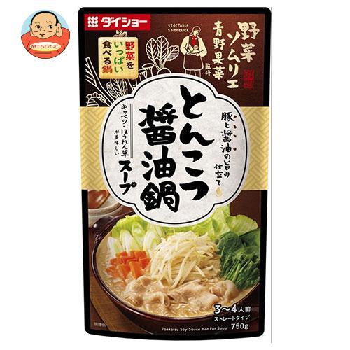 ダイショー 野菜ソムリエ青野果菜監修 野菜をいっぱい食べる鍋 とんこつ醤油鍋スープ 750g×10袋入