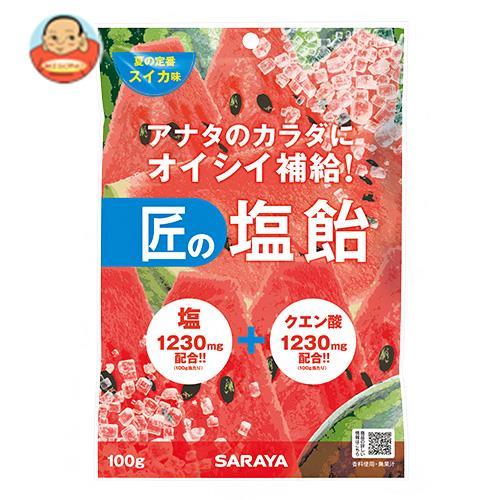 サラヤ 匠の塩飴 スイカ味 100g×20本入