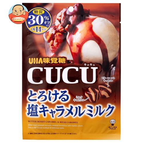 UHA味覚糖 CUCU(キュキュ) とろける塩キャラメルミルク 80g×6袋入