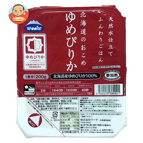 ウーケ 天然水仕立て ふんわりごはん 北海道のお米 ゆめぴりか 200g×24個入