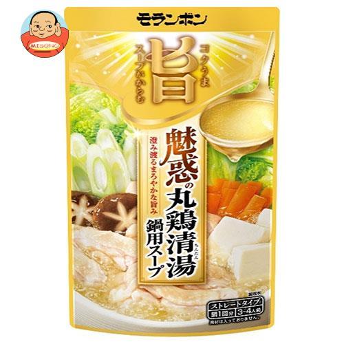 モランボン コク旨スープがからむ 魅惑の丸鶏清湯鍋用スープ 750g×10袋入