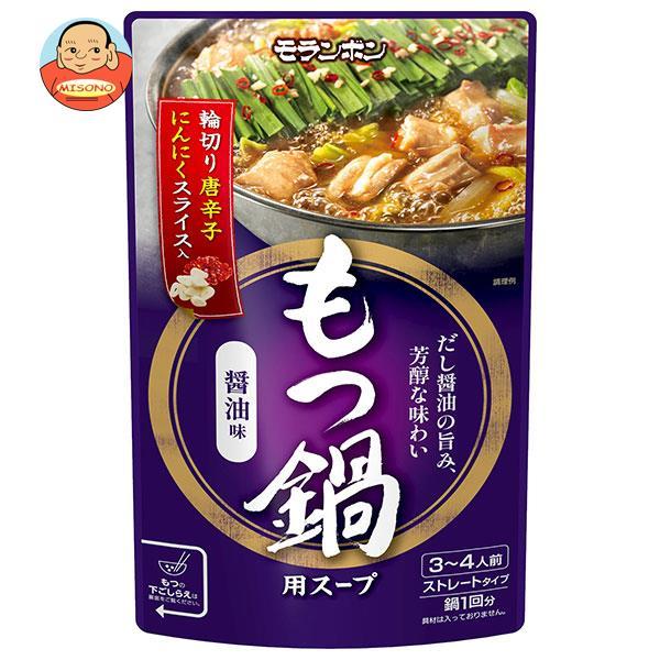 モランボン もつ鍋用スープ しょうゆ味 750g×10袋入