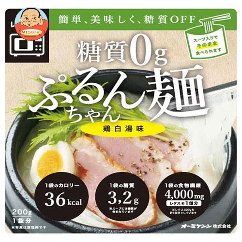 オーミケンシ 糖質0g ぷるんちゃん麺 鶏白湯味 200g×12袋入