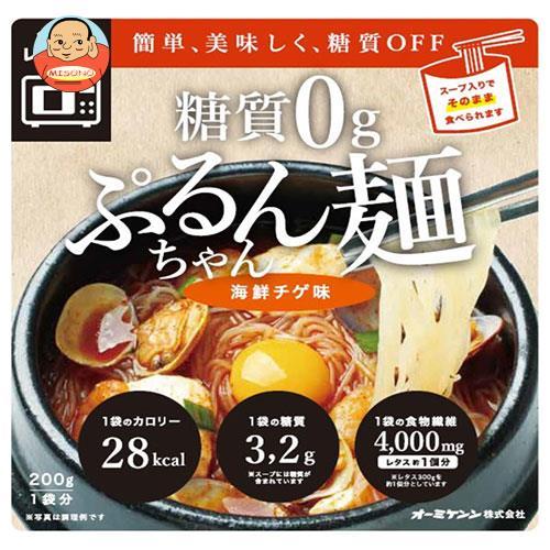 オーミケンシ 糖質0g ぷるんちゃん麺 海鮮チゲ味 200g×12袋入