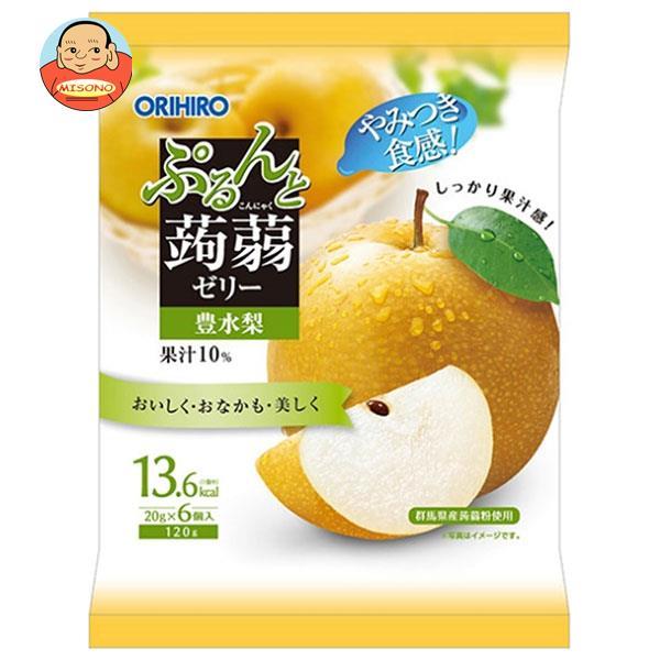 オリヒロ ぷるんと蒟蒻ゼリー 豊水梨 (20gパウチ×6個)×24袋入