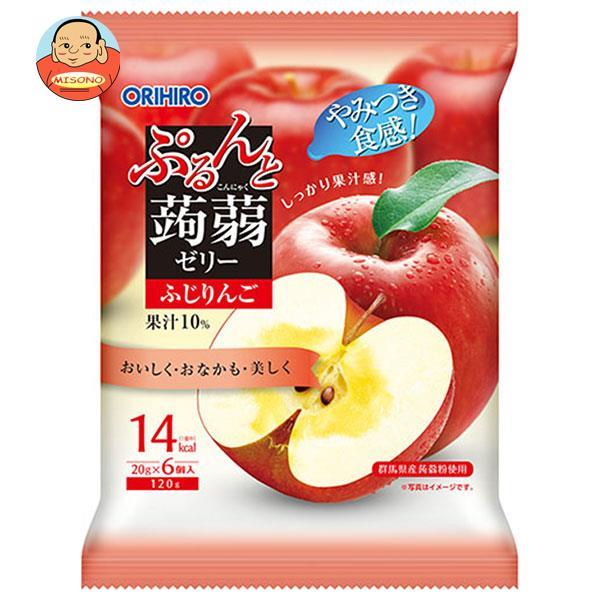 オリヒロ ぷるんと蒟蒻ゼリー 蜜りんご (20gパウチ×6個)×24袋入
