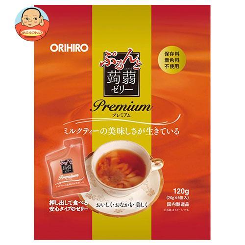 オリヒロ ぷるんと蒟蒻ゼリー プレミアム ミルクティー (20gパウチ×6個)×24袋入