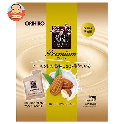 オリヒロ ぷるんと蒟蒻ゼリー プレミアム アーモンドミルク (20gパウチ×6個)×24袋入