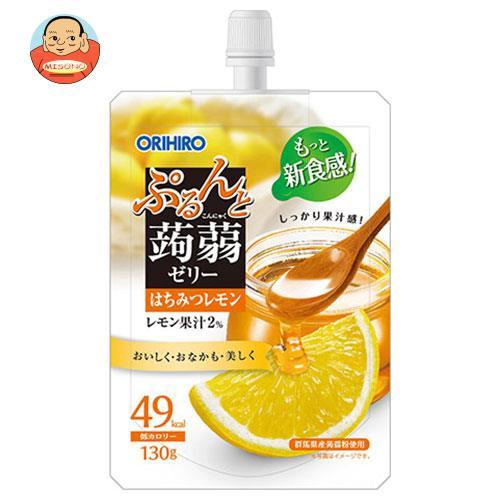オリヒロ ぷるんと蒟蒻ゼリー はちみつレモン 130gパウチ×48本入