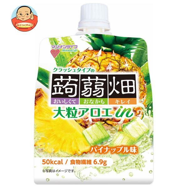 マンナンライフ 大粒アロエin クラッシュタイプの蒟蒻畑 パイナップル味 150gパウチ×30本入
