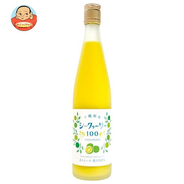 木村飲料 シークヮーサージュース100%(ストレート) 500ml瓶×12本入
