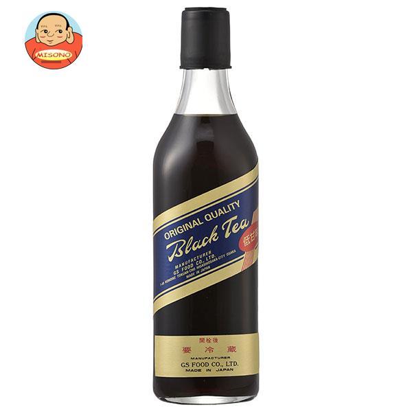 ジーエスフード GS ブラックティー 低甘味 500ml瓶×12本入