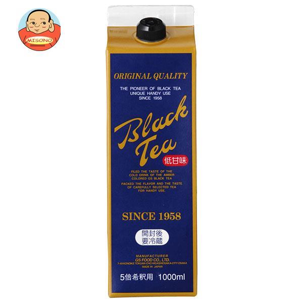 ジーエスフード GS ブラックティーL 低甘味 1000ml紙パック×12本入