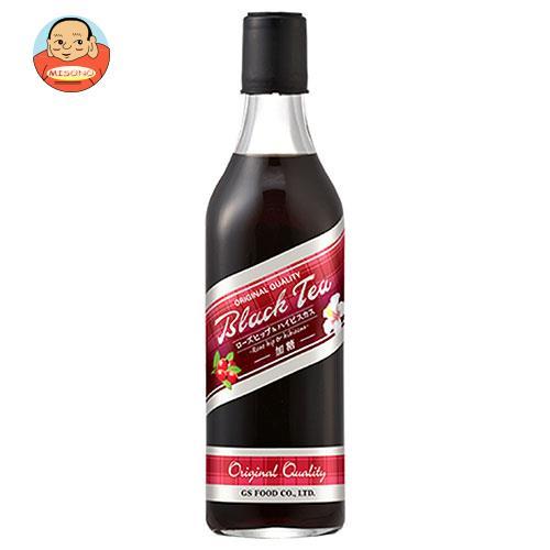 ジーエスフード GS ブラックティー ローズヒップ&ハイビスカス 500ml瓶×12本入
