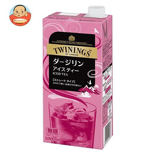 片岡物産 トワイニング アイスティー ダージリン(無糖) 1000ml紙パック×6本入
