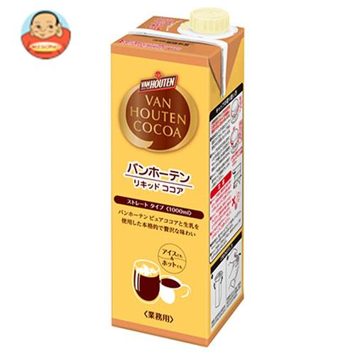 片岡物産 バンホーテン リキッド ココア 1000ml紙パック×6本入