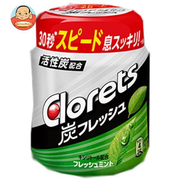 モンデリーズ・ジャパン クロレッツ 炭フレッシュ フレッシュミントボトルR(粒ガム) 127g×6個入