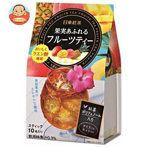 三井農林 日東紅茶 果実あふれるフルーツティー 8.5g×10本×24個入