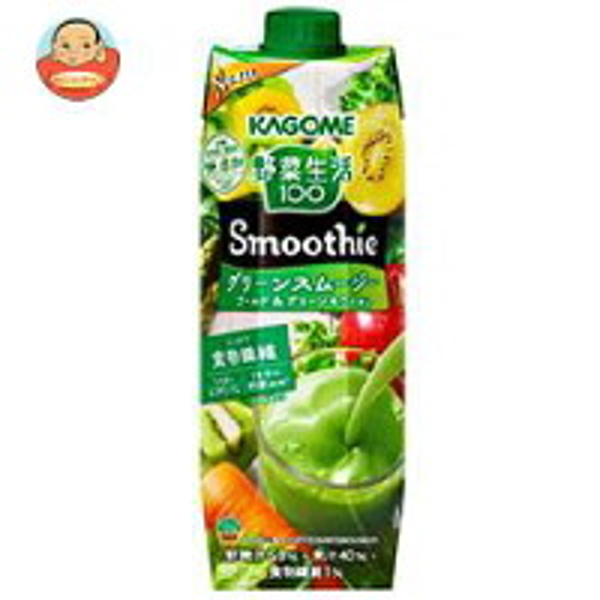 カゴメ 野菜生活100 Smoothie(スムージー) グリーンスムージー ゴールド&グリーンキウイMix 1000g紙パック×6本入