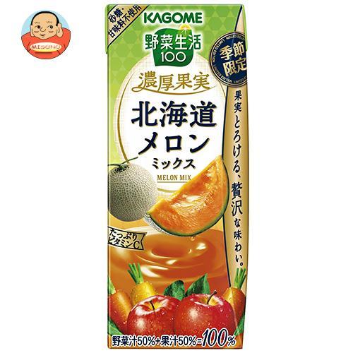 カゴメ 野菜生活100 濃厚果実 北海道メロンミックス 195ml紙パック×24本入