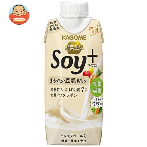 カゴメ 野菜生活 Soy+(ソイプラス) まろやかプレーン 330ml紙パック×12本入