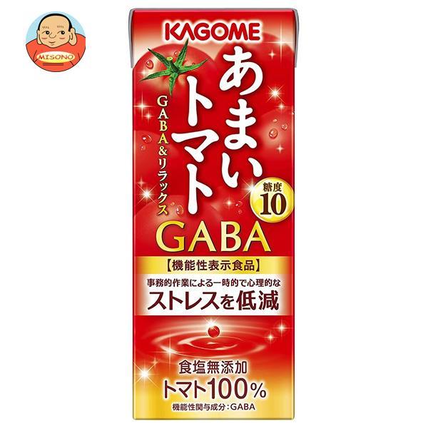 カゴメ あまいトマト GABA&リラックス【機能性表示食品】 195ml紙パック×24本入