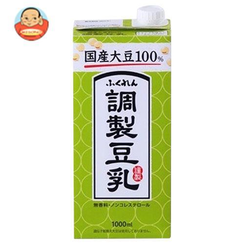 ふくれん 国産大豆100% 調製豆乳 1000ml紙パック×12(6×2)本入