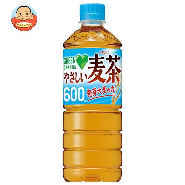 サントリー GREEN DA KA RA(グリーン ダカラ) やさしい麦茶【自動販売機用】 600mlペットボトル×24本入