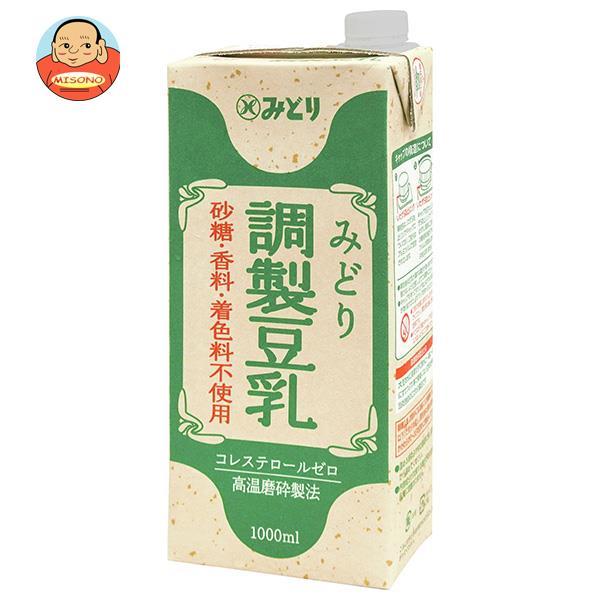 九州乳業 みどり 調製豆乳 1000ml紙パック×6本入