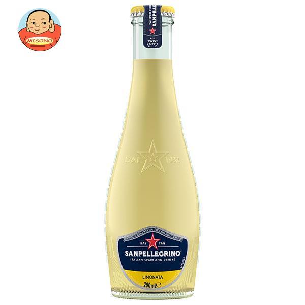 サンペレグリノ イタリアンスパークリングドリンク リモナータ(レモン) 200ml瓶×24本入