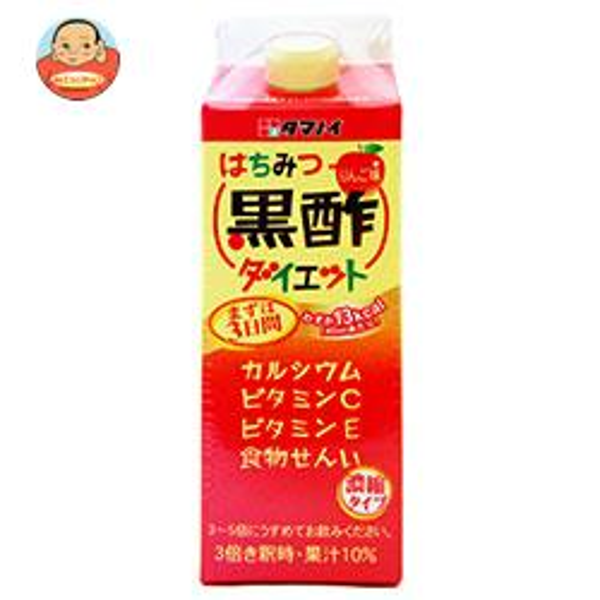 タマノイ はちみつ黒酢ダイエット 濃縮タイプ 500ml紙パック×12本入