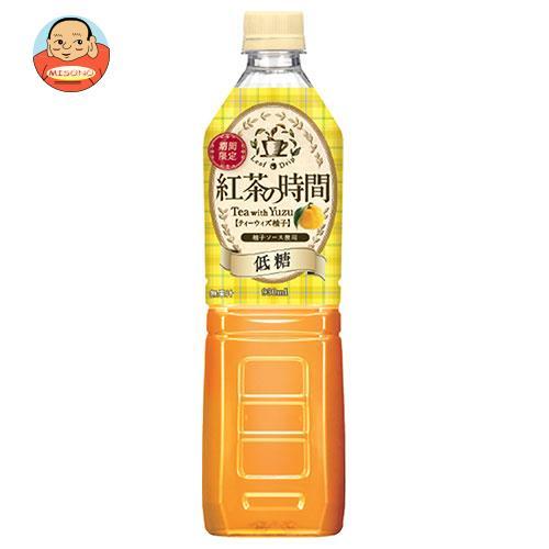 UCC 紅茶の時間 ティーウィズ柚子 低糖 930mlペットボトル×12本入