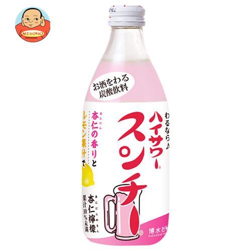 博水社 ホームハイサワー スンチー杏仁檸檬 360ml瓶×24本入