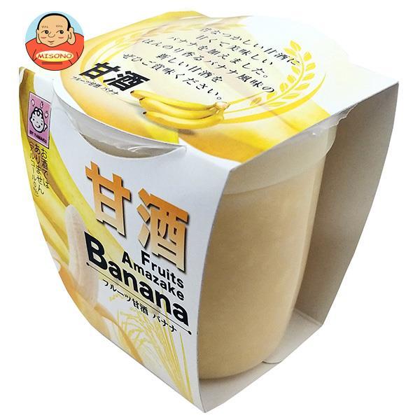 ヤマク食品 フルーツ甘酒 バナナ 180g×12個入