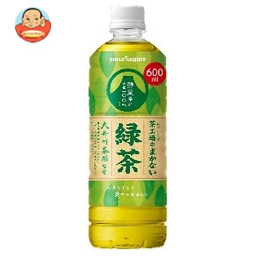 ポッカサッポロ 茶工場のまかない緑茶 600mlペットボトル×24本入