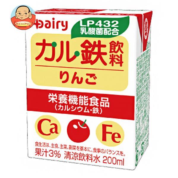 南日本酪農協同 デーリィ カル鉄飲料 りんご 200ml紙パック×24本入