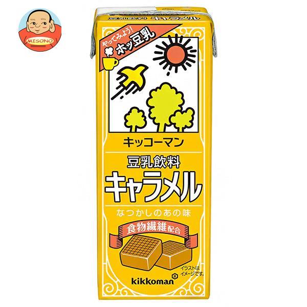 キッコーマン 豆乳飲料 キャラメル 200ml紙パック×18本入