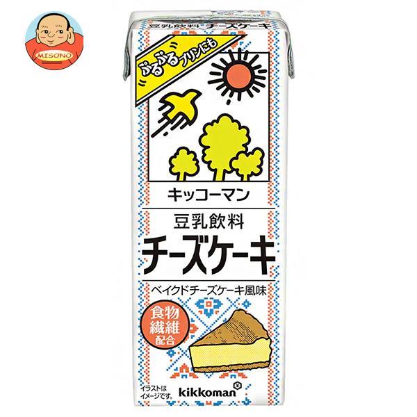 キッコーマン 豆乳飲料 チーズケーキ 200ml紙パック×18本入