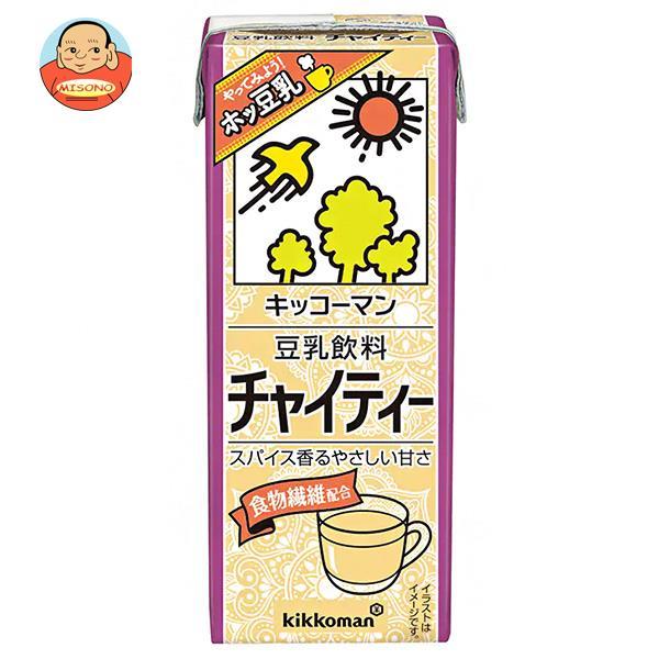 キッコーマン 豆乳飲料 チャイティー 200ml紙パック×18本入