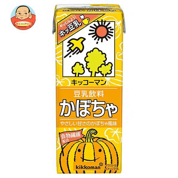キッコーマン 豆乳飲料 かぼちゃ 200ml紙パック×18本入