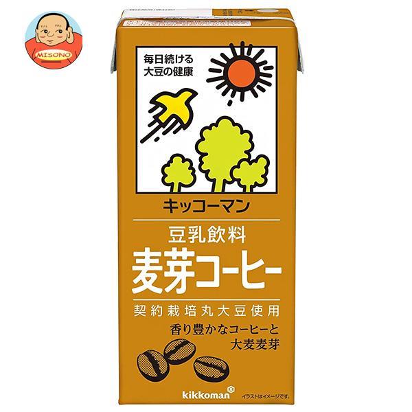 キッコーマン 豆乳飲料 麦芽コーヒー 1000ml紙パック×12(6×2)本入